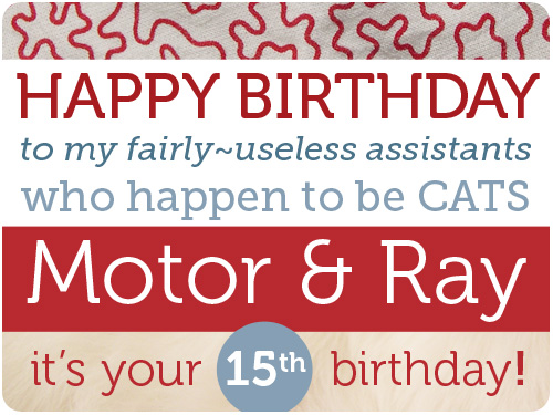 happy 15th birthday to motor & ray