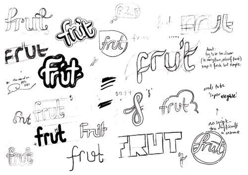 frut logo sketches