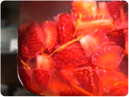 strawberry liquor infusion