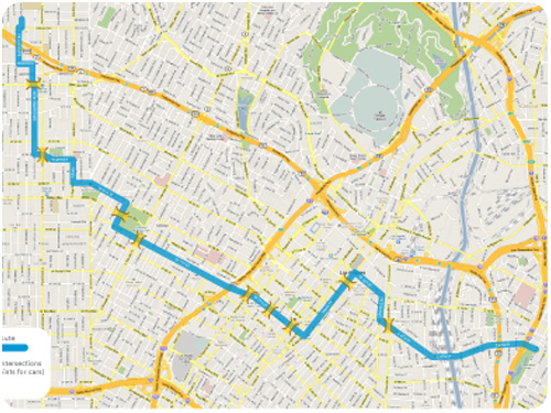 proposed route for cicLAvia 2010