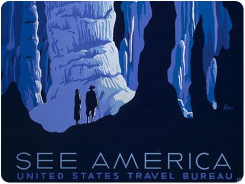 see america vintage u.s. parks posters