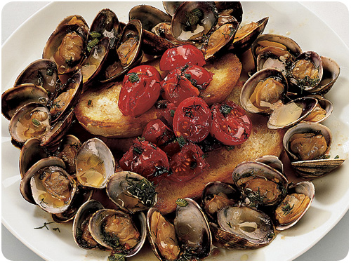 clams with fennel and tomatoes