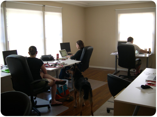 beth goldfarb, melanie orndorff & dave waite, co-working at fetch! creative