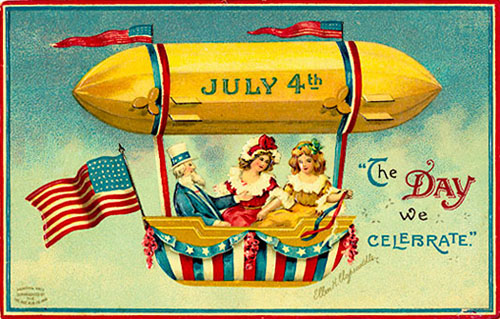fourth of july postcards