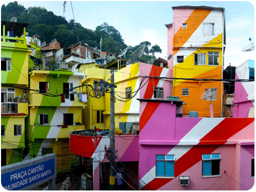 rainbow project in rio de janiero by favela