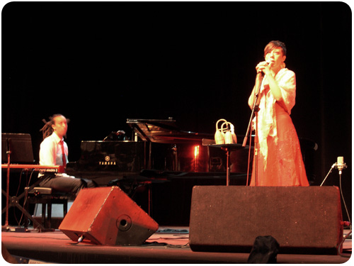 gretchen parlato and gerald clayton at san jose jazz fest 2010