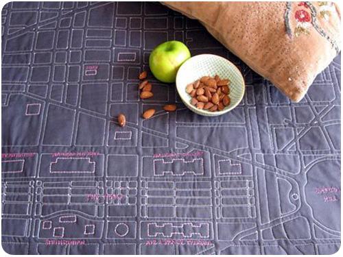 soft map quilt