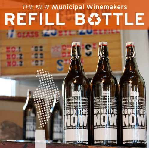 municipal winemakers refill bottle