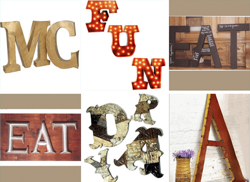 hanging wall letters for home decor