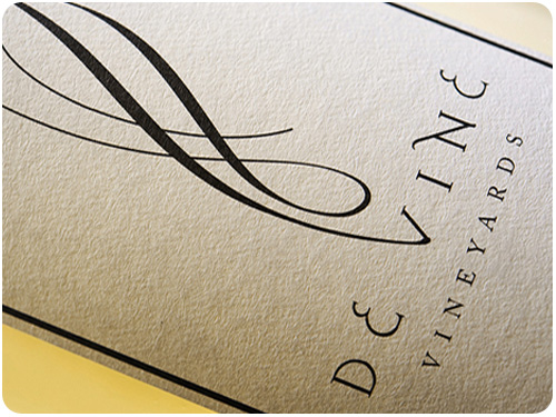 de vine vineyards label