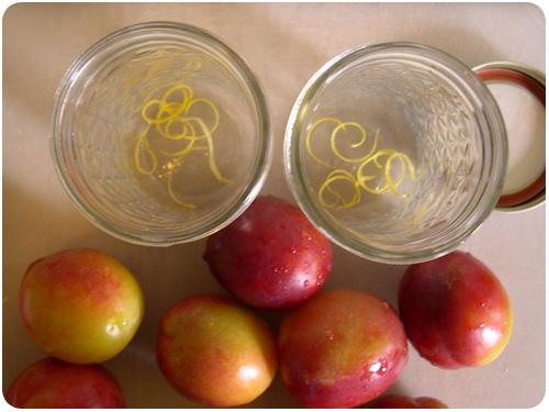 jars with lemon zest ready for filling