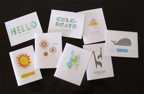 letterpress cards by lulu dee