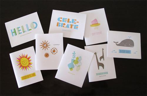 letterpress cards by lulu dee