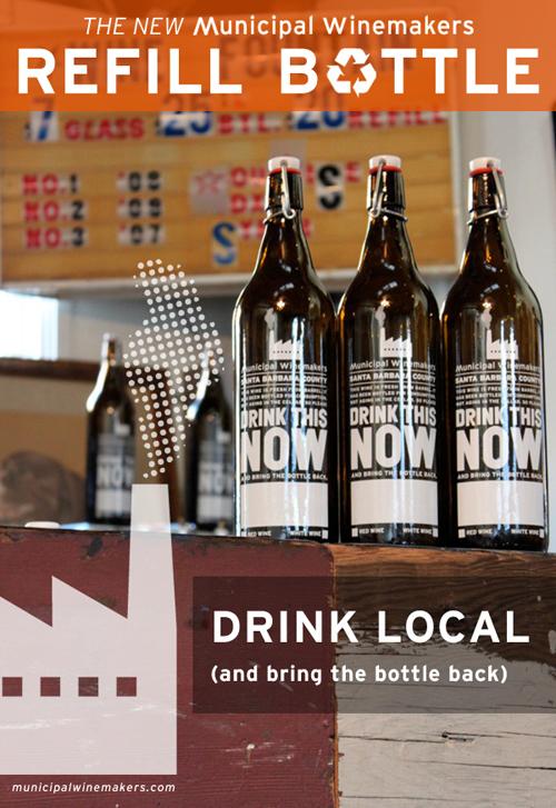 municipal winemakers refillable bottle