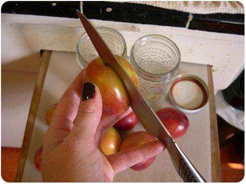 how to slice stone fruit