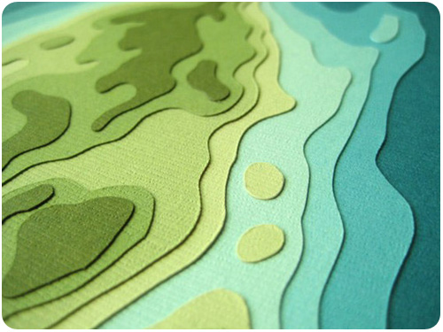topographical art cards from crafterall