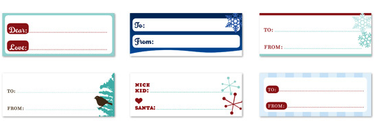 parlato design studio gift tags