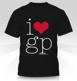 i heart gp mens tee, black