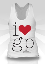 i heart gp white tank