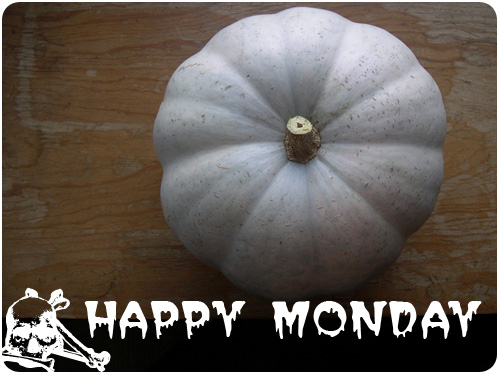 happy monday halloween pumpkins
