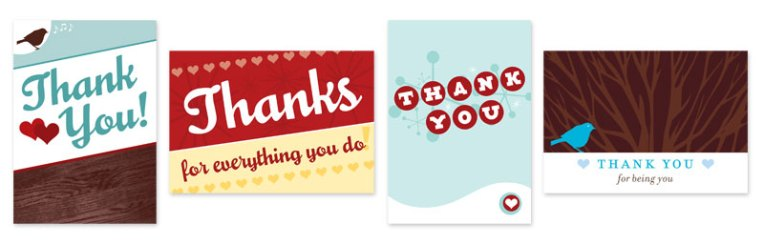parlato design studio thank you cards for 2011