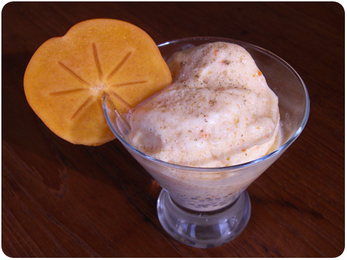 spiced persimmon ice cream