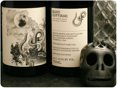 burn cottage wine packaging