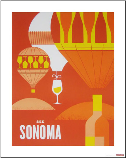 hatch design wine country posters