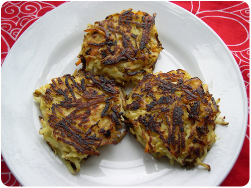 winter root vegetable haystack fritters