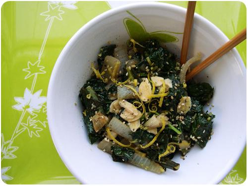 kale shiitake stir fry