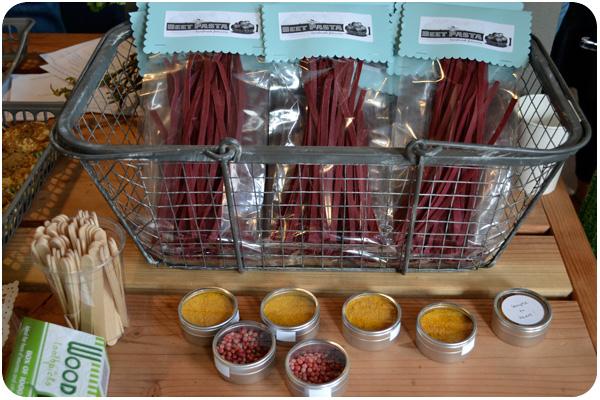 beet fettucini, satsuma mandarin powder & pink peppercorns