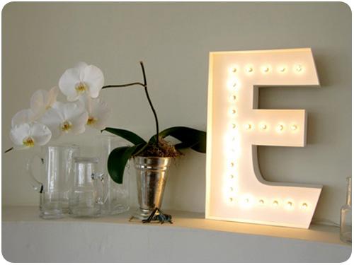 letter lamp