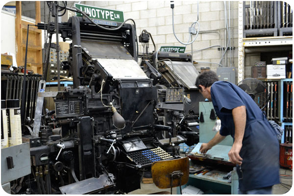 the linotype machine