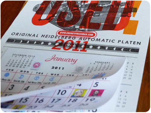 recycled calendars by cranky pressman