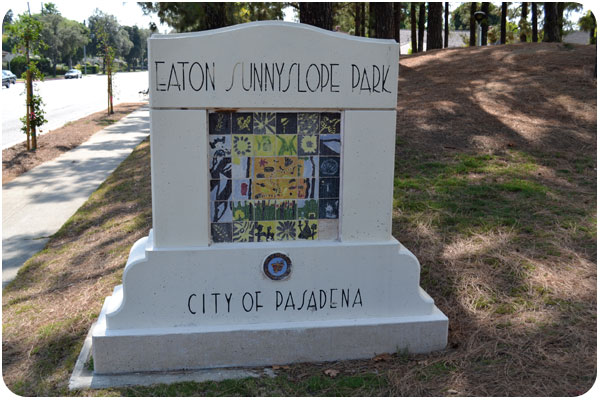 eaton sunnyslope park sign