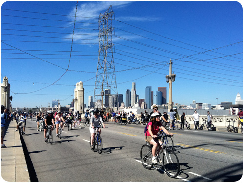 4th street bridge, ciclavia2011