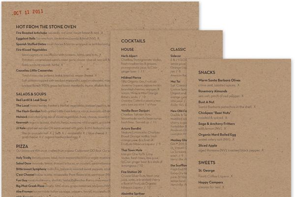 mohawk bend menus