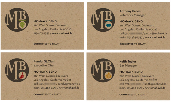 mohawk bend business cards