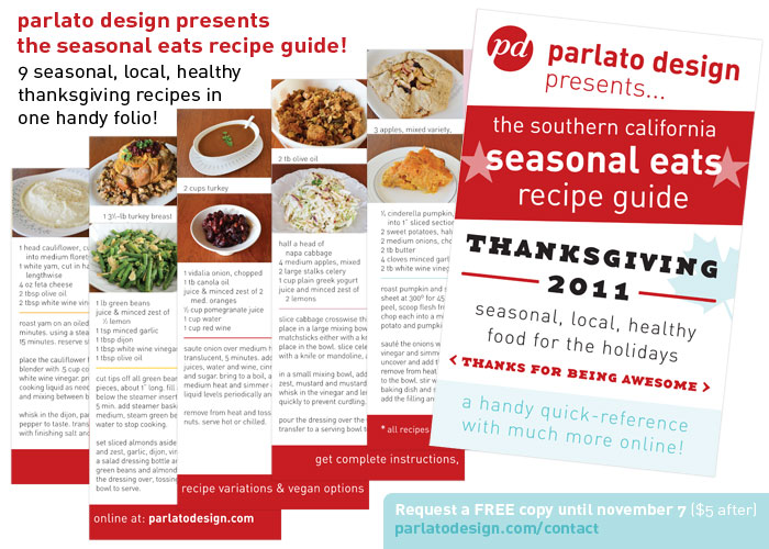 the parlato design seasonal eats recipe guide for thanksgiving 2011