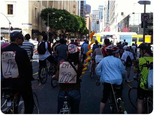 occupy LA rides with ciclavia2011