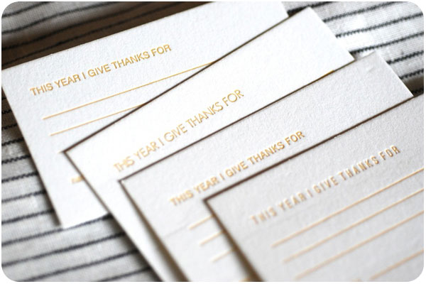 letterpress thanksgiving cards