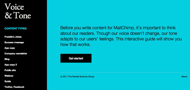mail chimp style guide