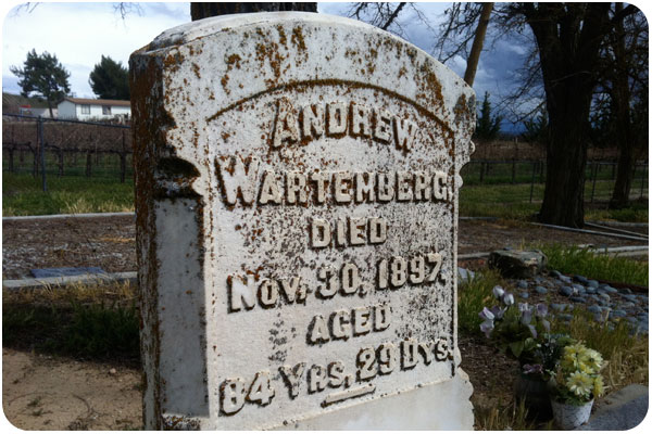 graveyard winery cemetery