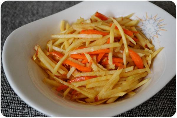 rutabaga carrot apple salad