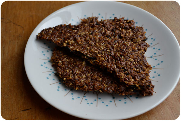 sesame flax crackers