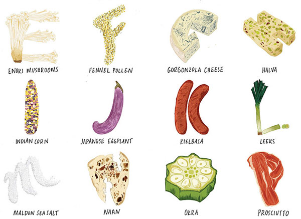 the foodie alphabet by vidhya nagarajan