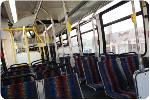 here's something that rarely happens: a ride in an empty bus!
